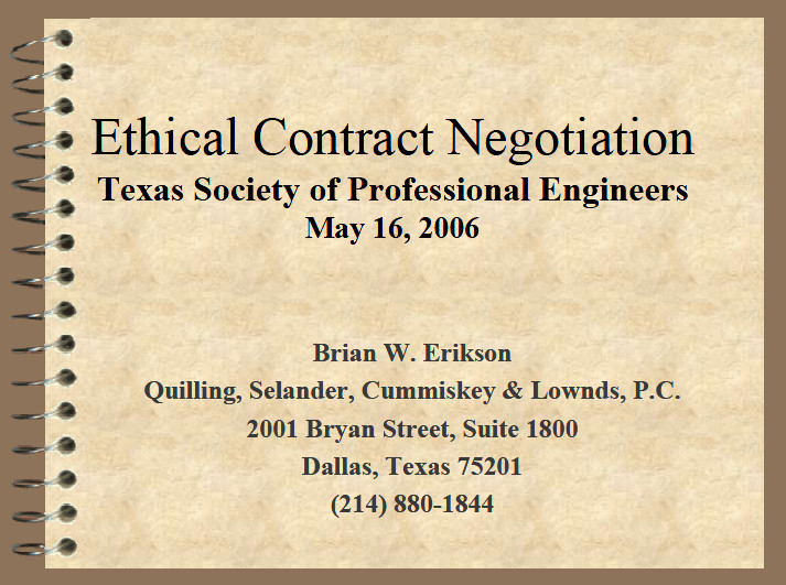 Ethical Contract Negotiation