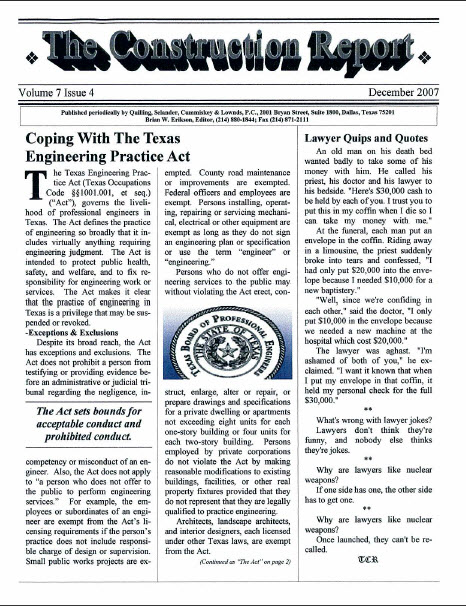 Texas Engineering Practice Act